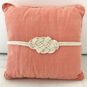 Other - Coral/Peach/Melon Pillow with Ivory Accents